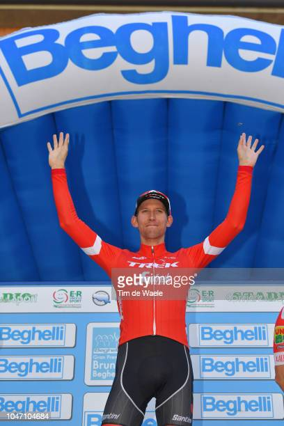 Podium / Bauke Mollema of Netherlands and Team TrekSegafredo / Celebration / during the 23rd Gran Premio Bruno Beghelli 2018 a 1963km race from...