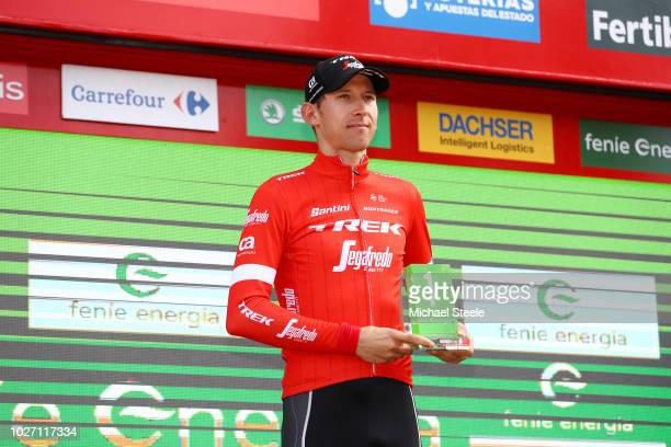 Podium / Bauke Mollema of The Netherlands and Team Trek Segafredo Best Combative Rider / Celebration / during the 73rd Tour of Spain 2018 Stage 11 a...