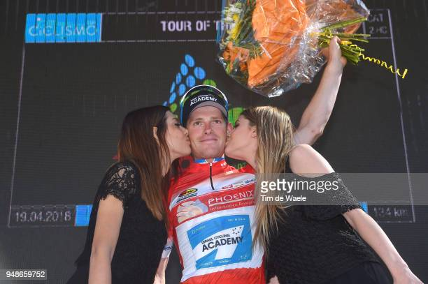 Podium / Ben Hermans of Belgium and Team Israel Cycling Academy Red Sprint Jersey / Celebration / Flowers / during the 42nd Tour of the Alps 2018...