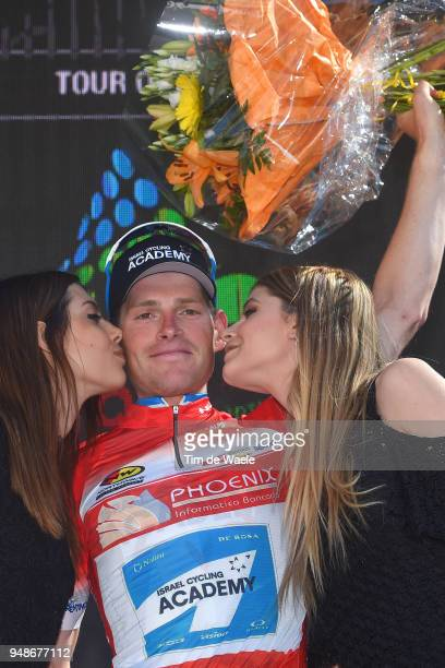 Podium / Ben Hermans of Belgium and Team Israel Cycling Academy Red sprint jersey / Celebration / during the 42nd Tour of the Alps 2018 Stage 4 a...