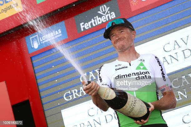 Podium / Benjamin King of The United States and Team Dimension Data White Combined Jersey / Celebration / Champagne / during the 73rd Tour of Spain...