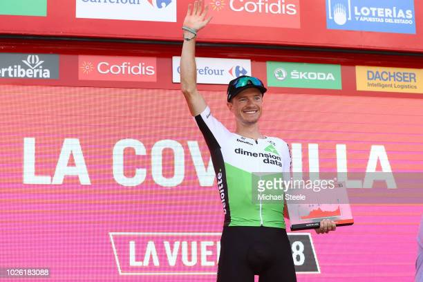 Podium / Benjamin King of The United States and Team Dimension Data White Combined Jersey / Celebration / during the 73rd Tour of Spain 2018, Stage 9...