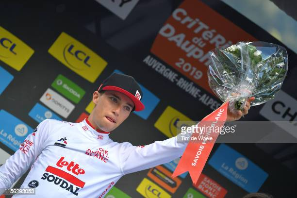 Podium / Bjorg Lambrecht of Belgium and Team Lotto Soudal White Best Young Rider Jersey / Celebration / during the 71st Criterium du Dauphine 2019...