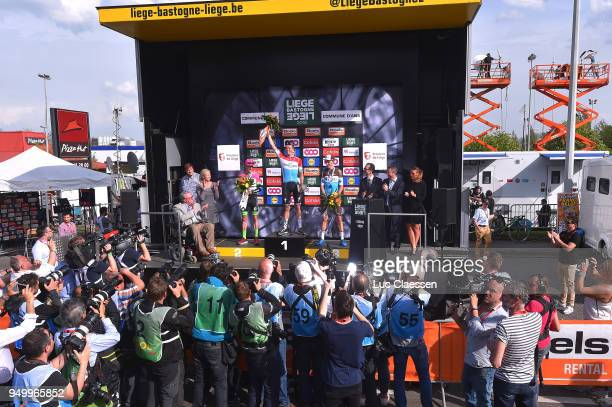 Podium / Bob Jungels of Luxembourg and Team Quick-Step Floors / Michael Woods of Canada and Team EF Education First - Drapac P/B Cannondale / Romain...