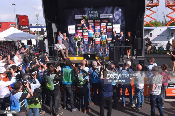 Podium / Bob Jungels of Luxembourg and Team QuickStep Floors / Michael Woods of Canada and Team EF Education First Drapac P/B Cannondale / Romain...