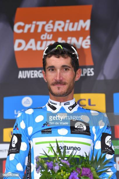 Podium / Brice Feillu of France and Team Fortuneo Samsic Polka Dot Mountain Jersey / Celebration / during the 70th Criterium du Dauphine 2018, Stage...