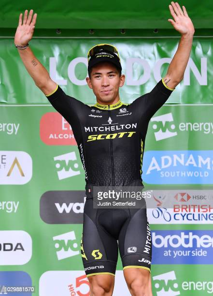 Podium / Caleb Ewan of Australia and Team MitcheltonScott / Celebration / during the 15th Tour of Britain 2018 Stage 8 a 77km stage from London to...