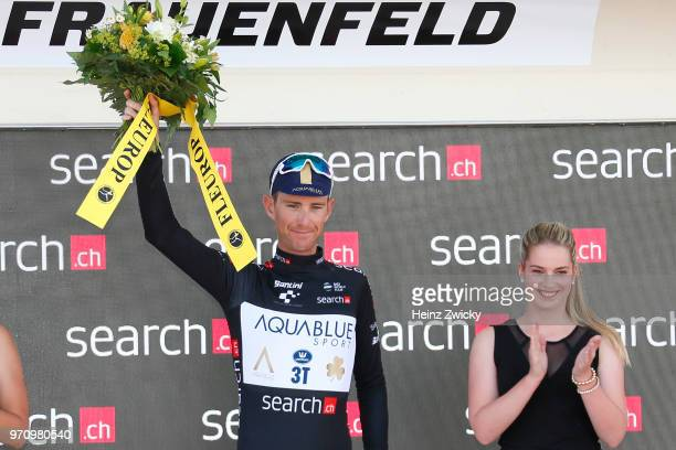 Podium / Calvin Watson of Australia and Aqua Blue Sport Team Black Points Jersey / Celebration / during the 82nd Tour of Switzerland 2018, Stage 2 a...