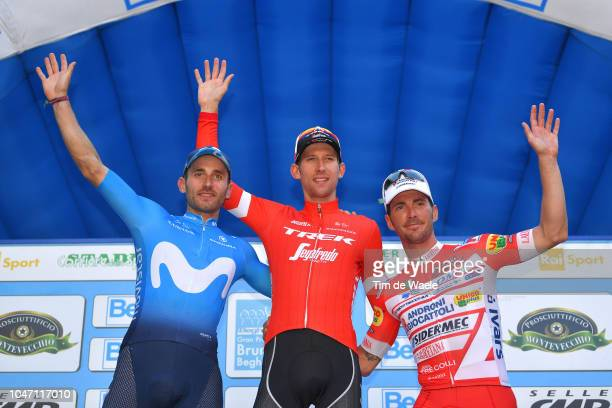 Podium / Carlos Barbero of Spain and Movistar Team / Bauke Mollema of Netherlands and Team Trek-Segafredo / Manuel Belletti of Italy and Team Androni...