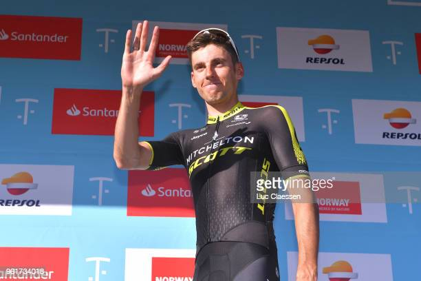 Podium / Carlos Verona of Spain and Team MitcheltonScott Polka Dot Mountain Jersey / Celebration / during the 11th Tour des Fjords 2018 Stage 2 a...