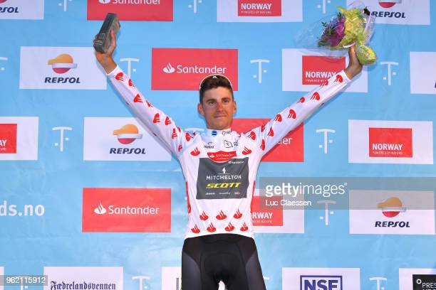 Podium / Carlos Verona of Spain and Team MitcheltonScott Polka Dot Mountain Jersey /Celebration / during the 11th Tour des Fjords 2018 Stage 3 a...