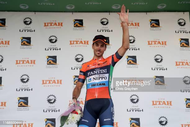 Podium / Celebration / Marco Canola of Italy and Team Nippo-Vini Fantini-Faizane / on August 16, 2019 in Salt Lake City, Utah.