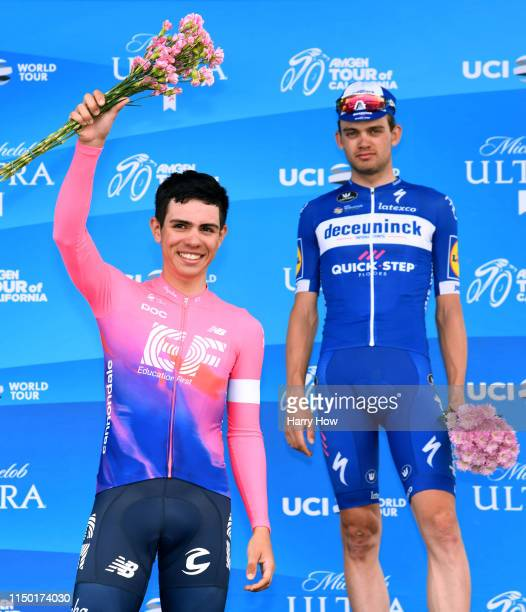 Podium / Celebration / Second place Sergio Andres Higuita Garcia of Colombia riding for EF Education First / Kasper Asgreen of Denmark riding for...