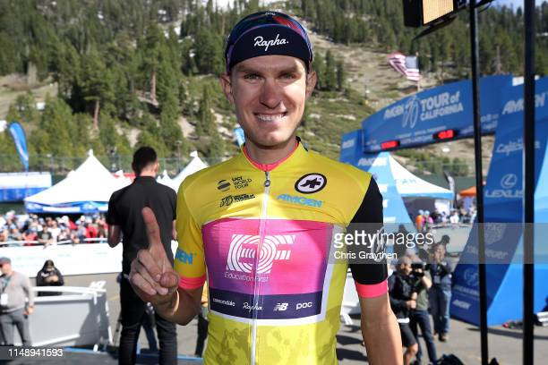 Podium / Celebration / Tejay van Garderen of The United States and Team EF Education First / AMGEN Race Leader's Jersey / during the 14th Amgen Tour...