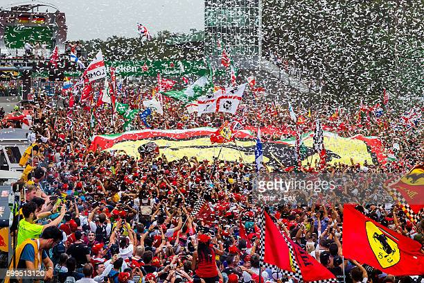 Podium celebrations during the Formula One Grand Prix of Italy at Autodromo di Monza on September 4 2016 in Monza Italy