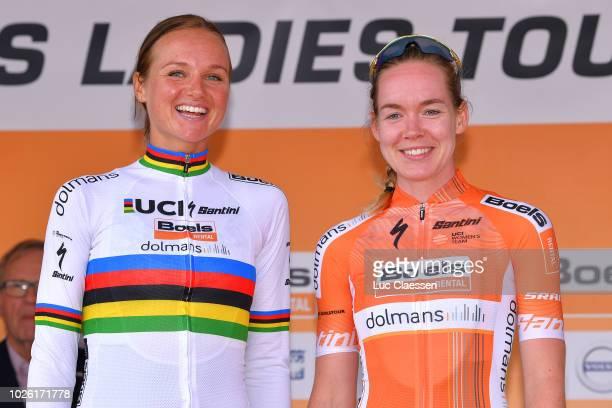 Podium / Chantal Blaak of Netherlands and Team Boels Dolmans Cycling Team / Anna Van Der Breggen of Netherlands and Team Boels Dolmans Cycling Team /...