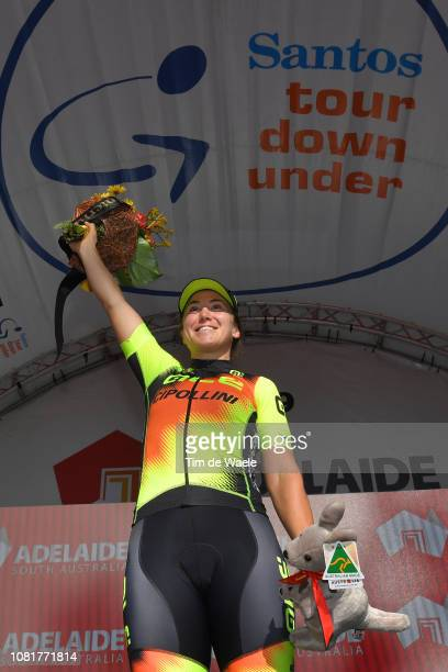 Podium   Chloe Hosking of Australia and Team Ale Cipollini   Celebration    during the 5th. 5th Santos Women s Tour Down Under 2019 - Stage 4 9fdac33ba