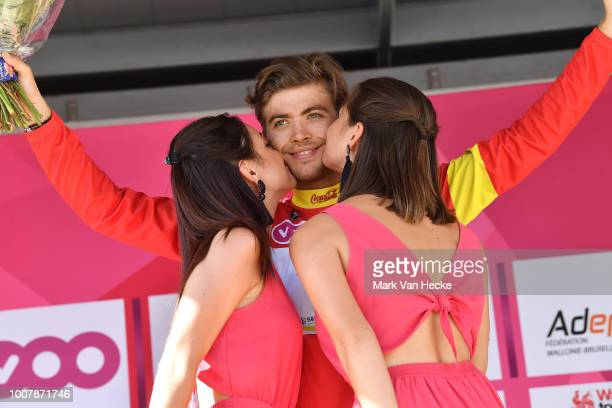 Podium / Christian Eiking Odd of Norway and Team Wanty Groupe Gobert Red Best Young Rider Jersey / Celebration / during the 39th Tour Wallonie 2018...
