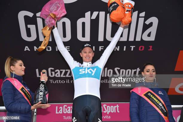 Podium / Christopher Froome of Great Britain and Team Sky / Celebration / during the 101st Tour of Italy 2018, Stage 14 a 186km stage from San Vito...