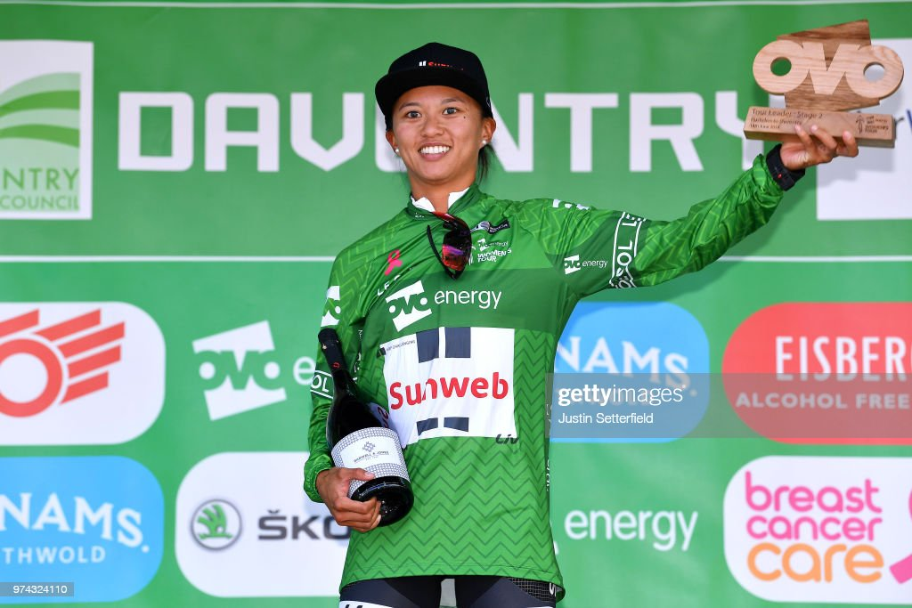 c0bdf7168 Podium   Coryn Rivera of The United States and Team Sunweb Green ...