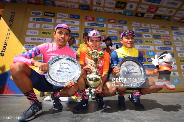 Podium / Daniel Felipe Martinez Poveda of Colombia and Team EF Pro Cycling / Sergio Andres Higuita Garcia of Colombia and Team EF Pro Cycling Orange...