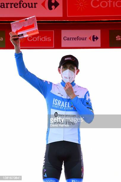 Podium / Daniel Martin of Ireland and Team Israel StartUp Nation / Celebration / Mask / Covid safety measures / Trophy / during the 75th Tour of...