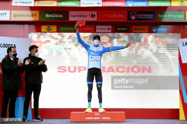 Podium / Daniel Martin of Ireland and Team Israel StartUp Nation / Celebration / Oscar Pereiro of Spain Ex Procyclist winner of the Tour of France...
