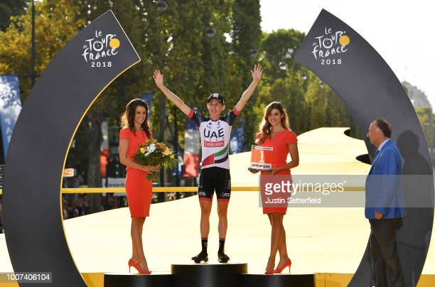 Podium / Daniel Martin of Ireland and UAE Team Emirates Most Combative Jersey / Celebration / Arc De Triomphe / during the 105th Tour de France 2018,...