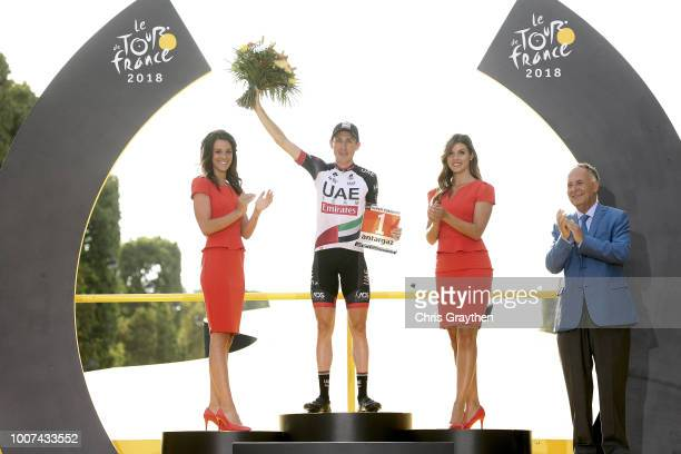 Podium / Daniel Martin of Ireland and UAE Team Emirates Most Combative Rider / Celebration / during the 105th Tour de France 2018, Stage 21 a 116km...