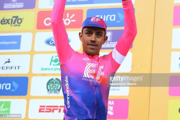 Podium / Daniel Martínez of Colombia and EF Education First Pro Cycling Team / Celebration / during the 2nd Tour of Colombia 2019, Stage 6 a 173,8km...