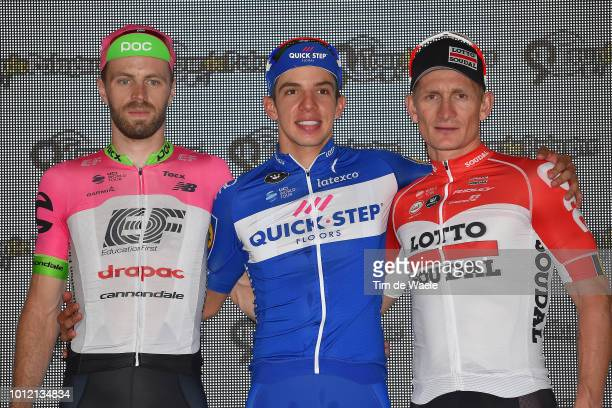 Podium / Daniel Mclay of United Kingdom and Team Ef Education First Drapac P/B Cannondale / Alvaro Jose Hodeg Chagui of Colombia and Team QuickStep...