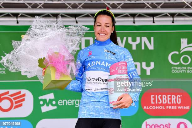 Podium / Danielle Rowe of The Great Britain and Team WaowDeals Pro Cycling Blue Best British Rider / Celebration / during the 5th OVO Energy Women's...