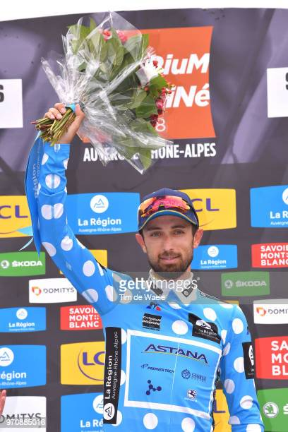 Podium / Dario Cataldo of Italy and Astana Pro Team Polka Dot Mountain Jersey / Celebration / during the 70th Criterium du Dauphine 2018 Stage 7 a...