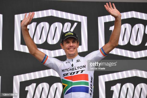 Podium / Daryl Impey of South Africa and Team Mitchelton-Scott / Celebration / during the 21st Santos Tour Down Under 2019, Stage 4 a 129,2km stage...