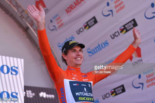 Podium / Daryl Impey of South Africa and Team Mitchelton-Scott Orange Leader Jersey Celebration / during the 21st Santos Tour Down Under 2019, Stage...
