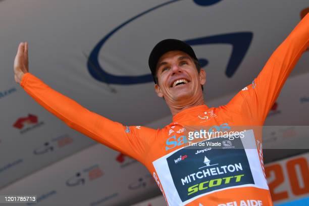 Podium / Daryl Impey of South Africa and Team Mitchelton-SCOTT Orange Leader Jersey / Celebration / during the 22nd Santos Tour Down Under 2020,...
