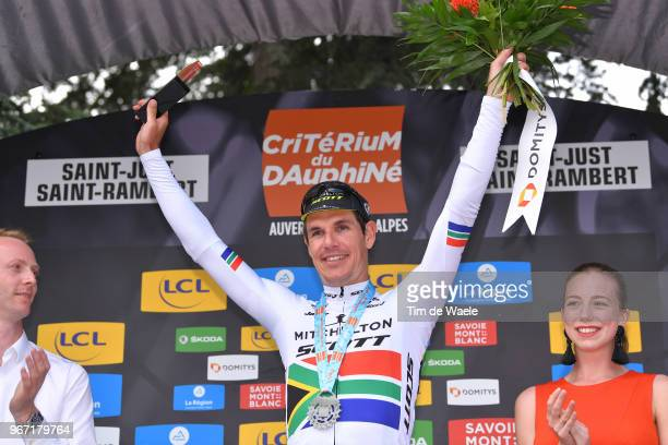 Podium / Daryl Impey of South Africa and Team Mitchelton-Scott / Celebration / Trophy / during the 70th Criterium du Dauphine 2018, Stage 1 a 179km...