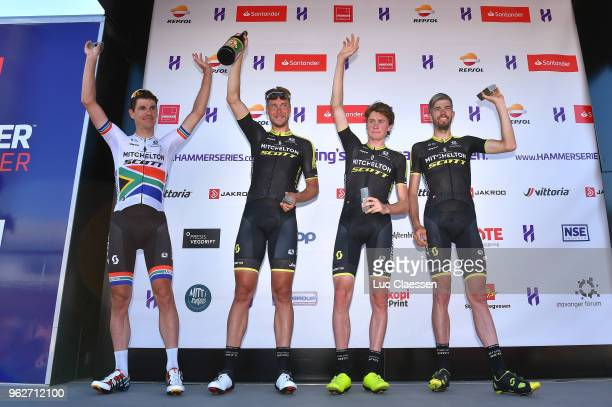 Podium / Daryl Impey of South Africa / Roger Kluge of Germany / Lucas Hamilton of Australia / Damien Howson of Australia / Team Mitchelton-Scott of...