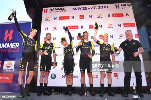 Podium / Daryl Impey of South Africa / Roger Kluge of Germany / Lucas Hamilton of Australia / Damien Howson of Australia / Cameron Meyer of Australia...