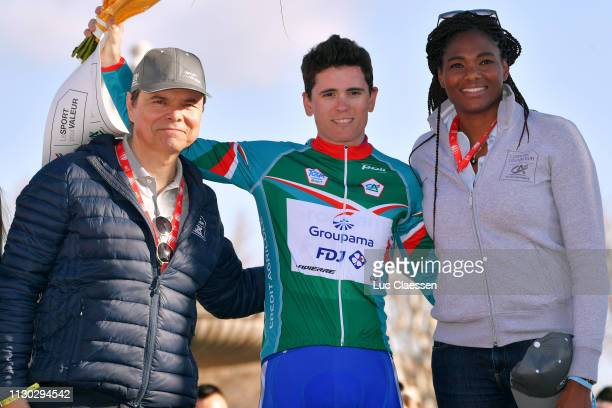 Podium / David Gaudu of France and Team Groupama FDJ Green Best Young Jersey / Celebration / during the 4th Tour de La Provence 2019 Stage 4 a 1733km...