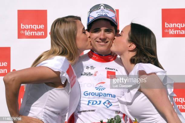 Podium / David Gaudu of France and Team Groupama-FDJ / Celebration / Miss / Hostess / Kiss / during the 73rd Tour de Romandie 2019, Stage 1 a 168,4km...
