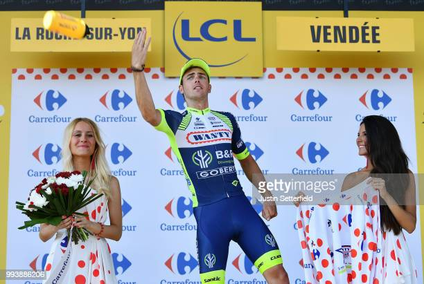 Podium / Dion Smith of New Zealand and Team Wanty Groupe Gobert / Celebration / during the 105th Tour de France 2018, Stage 2 a 182,5km stage from...