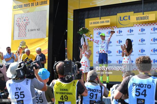 Podium / Dion Smith of New Zealand and Team Wanty Groupe Gobert Polka Dot Mountain Jersey / Celebration / during the 105th Tour de France 2018, Stage...