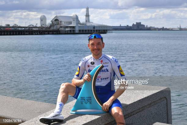 Podium / Dries Devenyns of Belgium and Team Deceuninck - Quick-Step / Trophy / Celebration / during the 6th Cadel Evans Great Ocean Road Race 2020,...