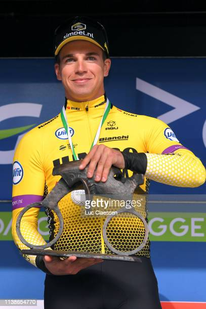 Podium / Dylan Groenewegen of The Netherlands and Team Jumbo-Visma / Celebration / Trophy / during the 43rd Driedaagse Brugge - De Panne 2019, Men...
