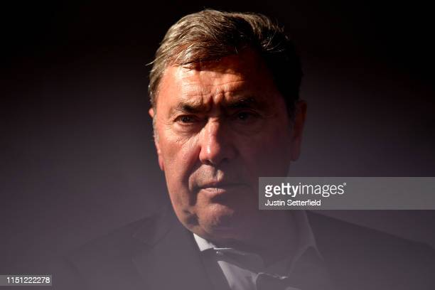 Podium / Eddy Merckx of Belgium Ex ProCyclist / during the 102nd Giro d'Italia 2019 Stage 12 a 158km stage from Cuneo to Pinerolo 376m / Tour of...