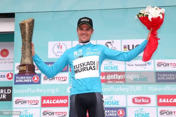 Podium / Eduard Prades Reverte of Spain and Team Euskadi Basque CountryMurias Blue Leader Jersey / Celebration / Trophy / during the54th Presidential...