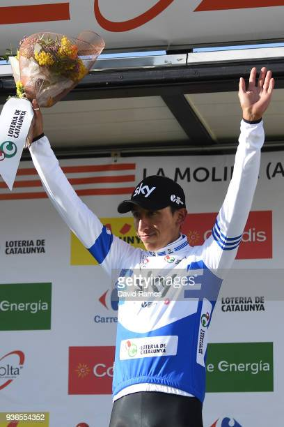 Podium / Egan Arley Bernal Gomez of Colombia and Team Sky Blue Best Young Rider Jersey / Celebration / during the 98th Volta Ciclista a Catalunya...