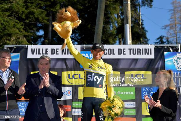 Podium / Egan Arley Bernal of Colombia and Team Sky Yellow Leader Jersey / Celebration / during the 77th Paris - Nice 2019, Stage 7 a 181,5km stage...