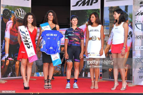 Podium / Elena Cecchini of Italy and Team Canyon SRAM Racing / Best Italian rider jersey Celebration / during the 29th Tour of Italy 2018 - Women,...